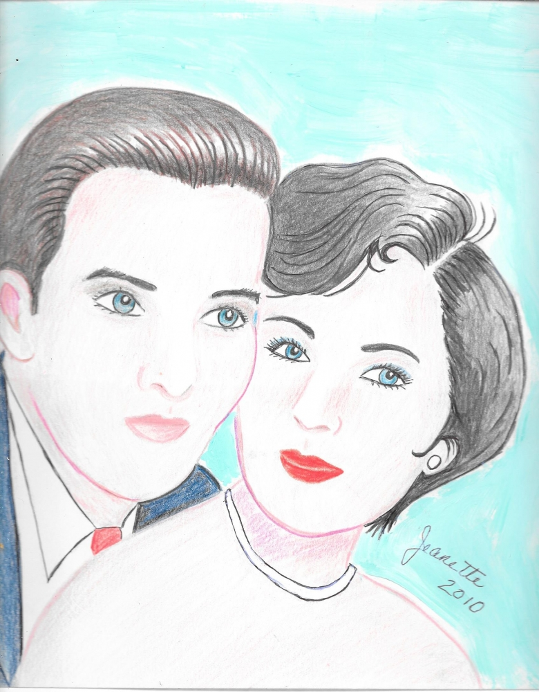 Elizabeth Taylor, Montgomery Clift by Jeanette